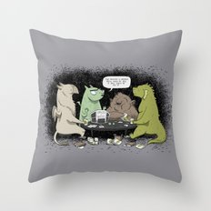 Monsters Love RPGs Throw Pillow