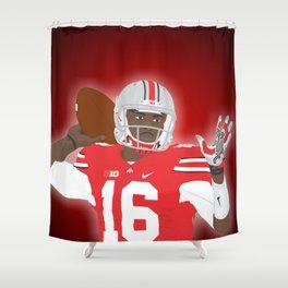 Ohio State Buckeyes - JT Barrett - 2016 Shower Curtain