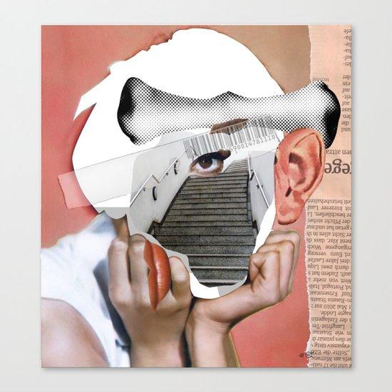 Audrey 3 Collage Canvas Print