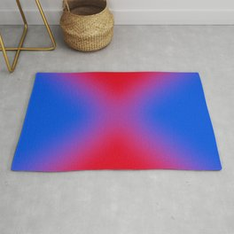 blue and red make purple Rug