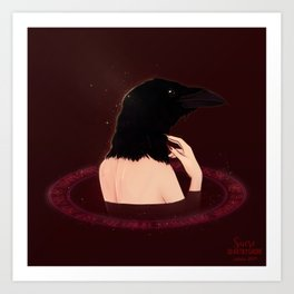Crow Lady Art Print