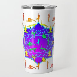 Lotus Flower With Yoga Poses Travel Mug
