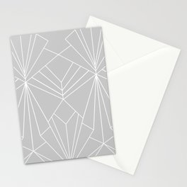 Art Deco on Grey - Large Scale Stationery Cards