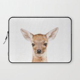 Baby Deer Animals Art by ZouzounioArt Laptop Sleeve