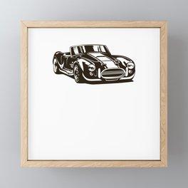 Motor Racing Bike Car Framed Mini Art Print