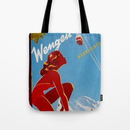 Wengen Switzerland - Vintage Travel Tote Bag