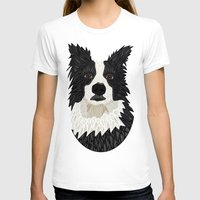 border collie T-shirts featuring Beautiful Border Collie by ArtLovePassion