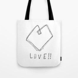 Love! Love! Love! - Heart Illustration Pop Art Tote Bag