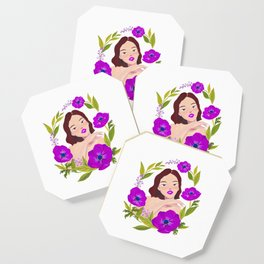 Girl and Anemone Coaster