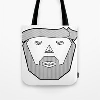 the dude Tote Bags featuring Dude by Martin Heinemann