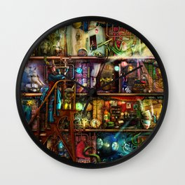 The Fantastic Voyage - a Steampunk Book Shelf Wall Clock