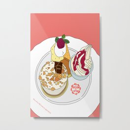 Gorgeous Cake Set Metal Print