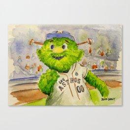 Orbit - Astros mascot Canvas Print