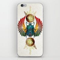 egyptian iPhone & iPod Skins featuring egyptian beetle by Manoou