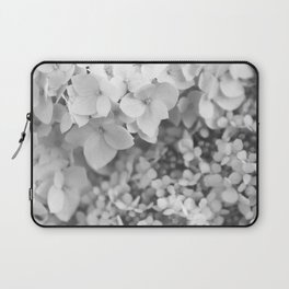 Flowers Blooming (Black and White) Laptop Sleeve