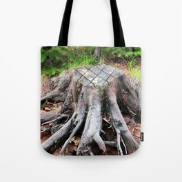 Enchanted Tree Trunk with Roots Tote Bag