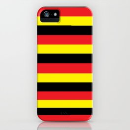 Black,red and yellow  stripes iPhone Case