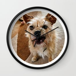 Grumpy Dog Wall Clock