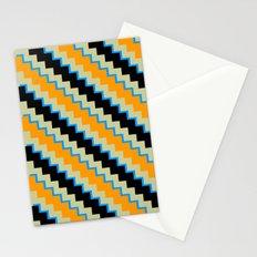 Pixel Orange Stationery Cards