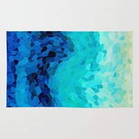 waves Area & Throw Rugs featuring INVITE TO BLUE by Catspaws