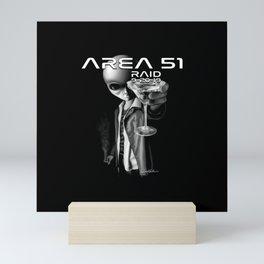 Area 51 Raid / Alien Martini Mini Art Print