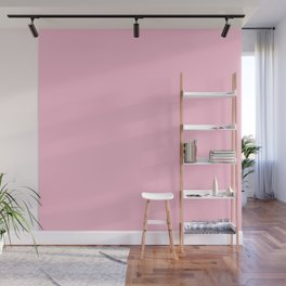 Hibiscus Solid Pink Bloom Accent Wall Mural