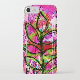Leaves painting - Abstract iPhone Case