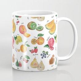 Tutti frutti watercolor fruits pattern Coffee Mug