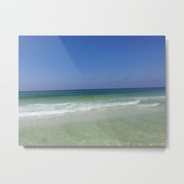 Clear Ocean Water in Destin, Florida Metal Print