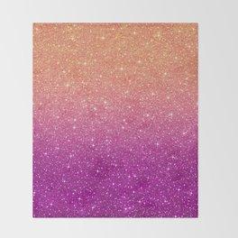 Ombre glitter #10 Throw Blanket