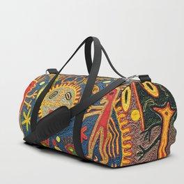 Peyote Sun Ritual Huichol Duffle Bag