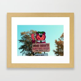 Yogi Bear - Sign Framed Art Print