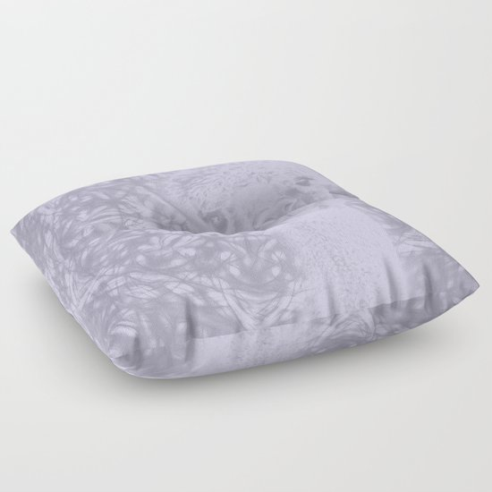 Ghostly alpaca and Lilac-gray mandala Floor Pillow by Wendy Townrow Society6