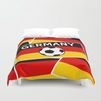 german Duvet Covers featuring German Flag Football by mailboxdisco