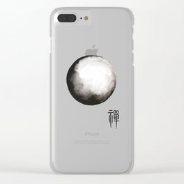 """Zen painting and Chinese calligraphy of """"Zen"""" Clear iPhone Case"""