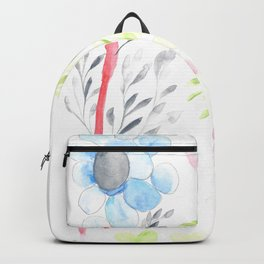170404 Steady Pacing 14 |Modern Watercolor Art | Abstract Watercolors Backpack