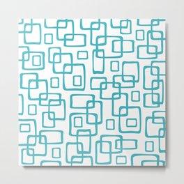Retro Mid Century Modern Geometric Abstract 635 Metal Print
