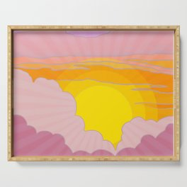 Sixties Inspired Psychedelic Sunrise Surprise Serving Tray