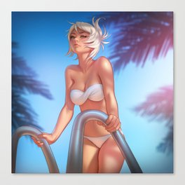 Pool Party Riven Canvas Print