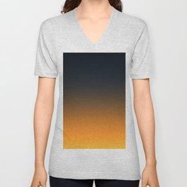 Light and Dark Ombre Unisex V-Neck