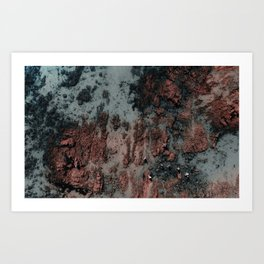 Walking on Mars Art Print