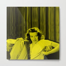Katherine Hepburn - Celebrity (Florescent Color Technique) Metal Print