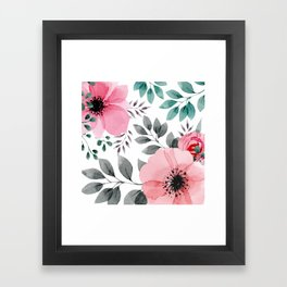 FLOWERS WATERCOLOR 14 Framed Art Print