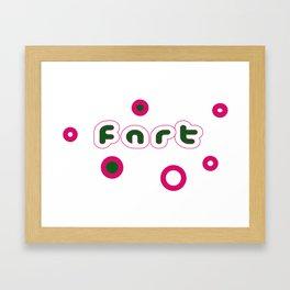 FART GASES Framed Art Print