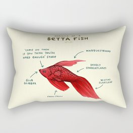 Anatomy of a Betta Fish Rectangular Pillow