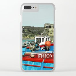 Coverack Boats Clear iPhone Case