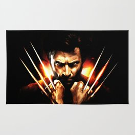 Hugh Jackman - Celebrity Art (Action Movie Art) Rug