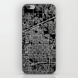 plano map texas iPhone Skin