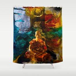 Monk Trip Shower Curtain