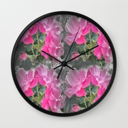 Iced Blossoms Wall Clock
